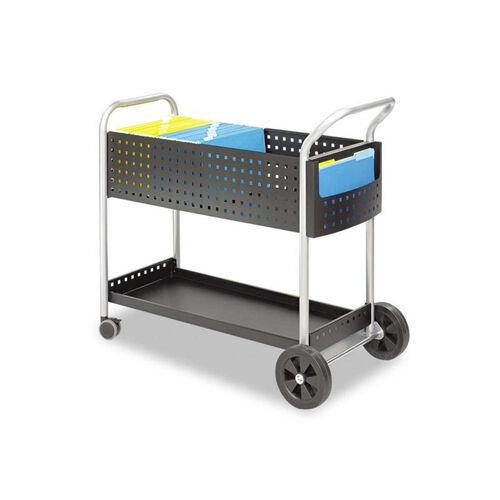 Our Safco® Scoot Mail Cart - One-Shelf - 22-1/2w x 39-1/2d x 40-3/4h - Black/Silver is on sale now.