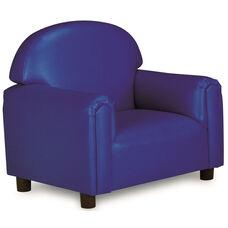 Just Like Home Preschool Size Overstuffed Vinyl Chair - Blue - 26