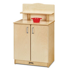 Natural Birch Play Kitchen Cupboard with 23.5
