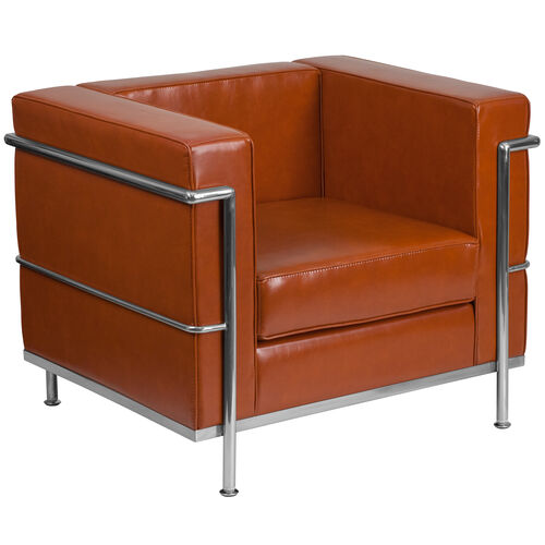Our HERCULES Regal Series Contemporary Cognac Leather Chair with Encasing Frame is on sale now.