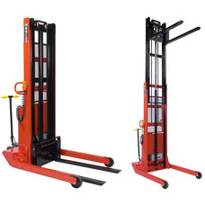2,000 Lb. Capacity Powered Telescoping Fork Stacker With Fixed Width Base And 24