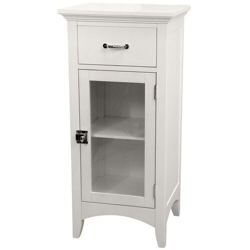 Madison Floor Cabinet with One Door and One Drawer - White