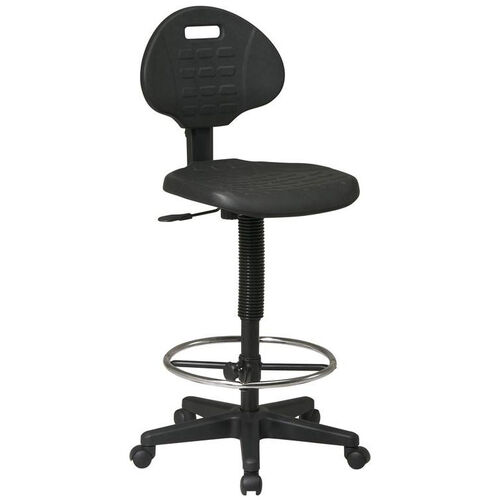 Our Work Smart Standard Armless Drafting Chair with Adjustable Footrest and Adjustable Seat Height - Black is on sale now.