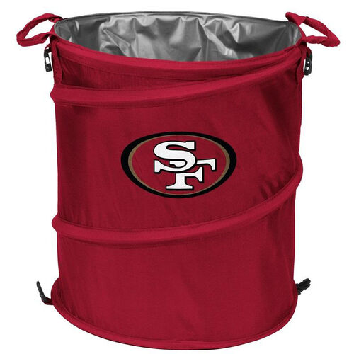 Our San Francisco 49ers Team Logo Collapsible 3-in-1 Cooler Hamper Wastebasket is on sale now.