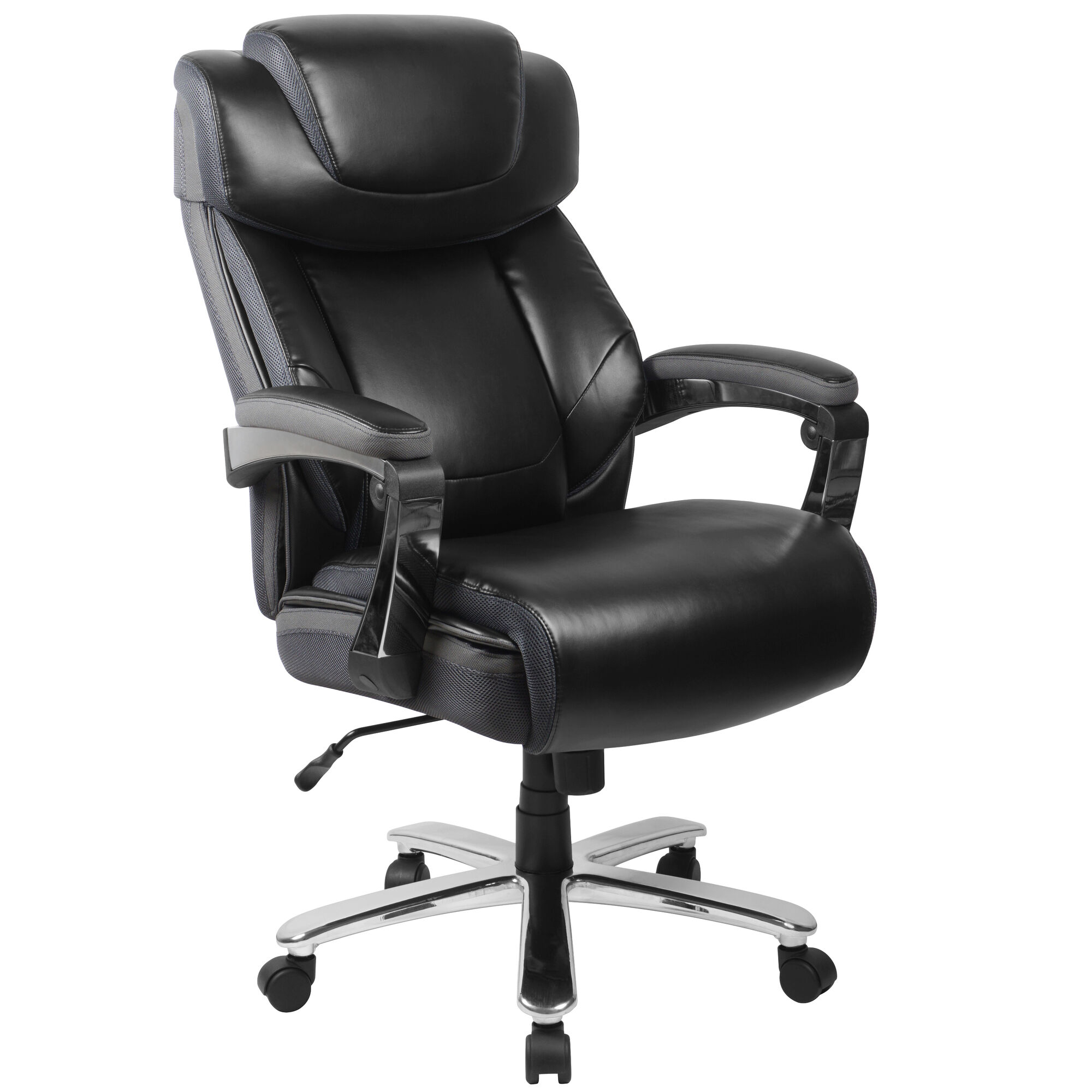 Peachy Hercules Series Big Tall 500 Lb Rated Black Leather Executive Swivel Ergonomic Office Chair With Adjustable Headrest Download Free Architecture Designs Terchretrmadebymaigaardcom