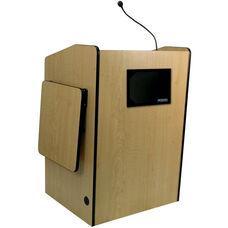 Multimedia Wired 150 Watt Sound Presentation Podium - Maple Finish - 33