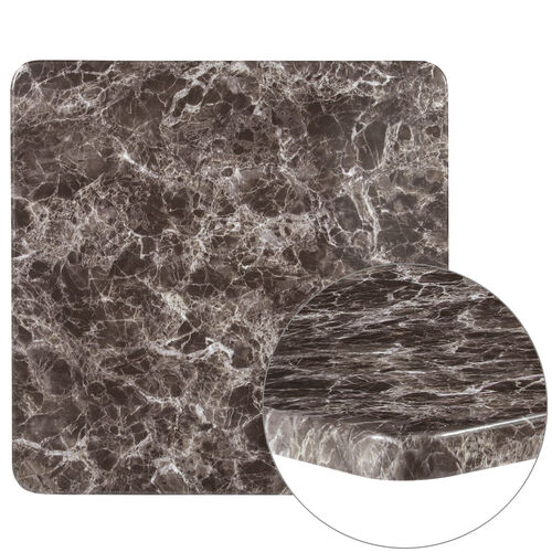 """Our 24"""" Square Gray Marble Laminate Table Top is on sale now."""