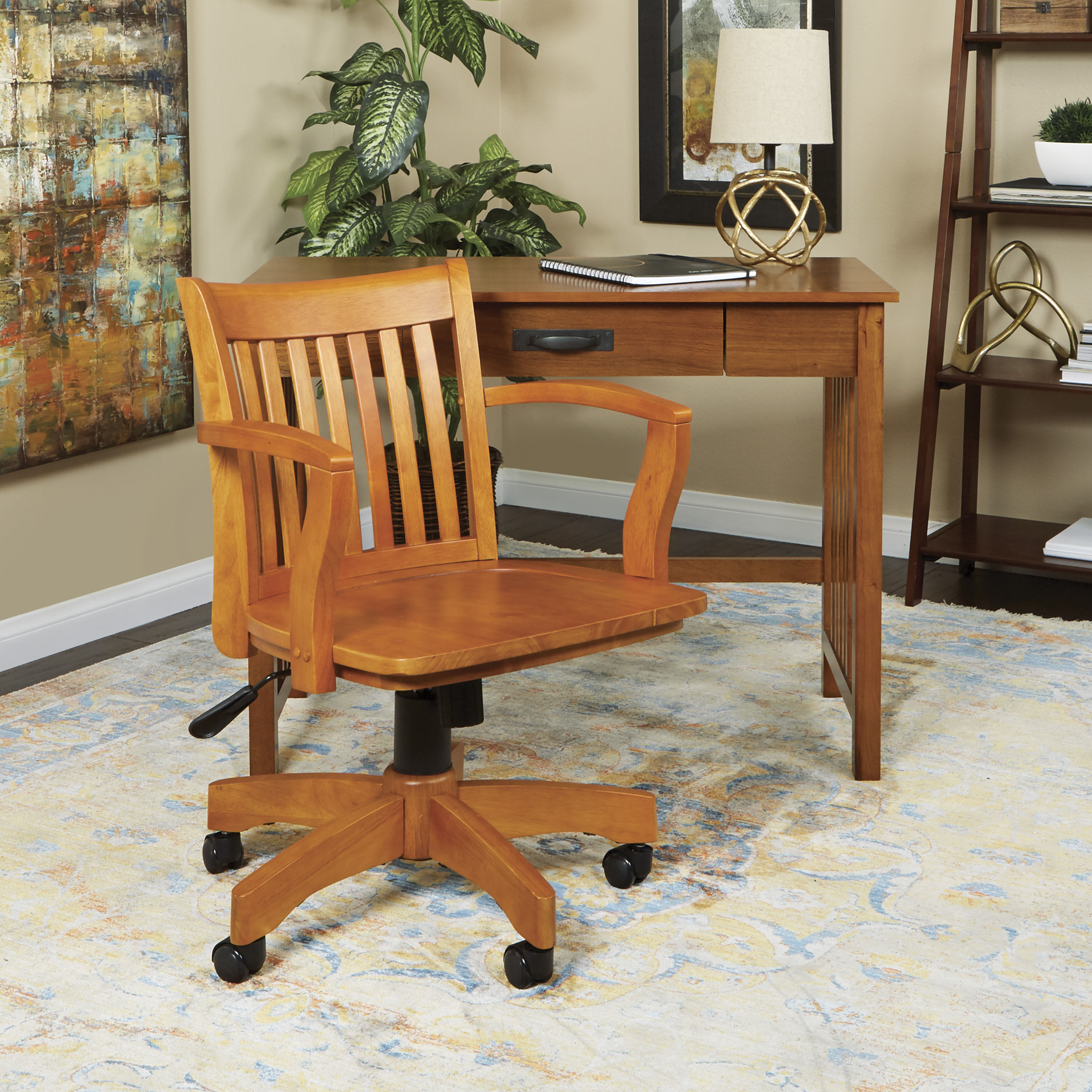 ... Our OSP Designs Deluxe Wood Bankeru0027s Chair With Wood Seat   Fruit Wood  Is On Sale