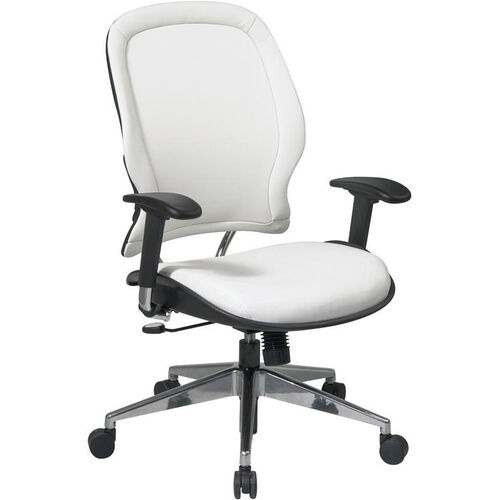 Our Space Vinyl Managers Chair with Adjustable Arms and Pneumatic Seat Adjustment - White is on sale now.