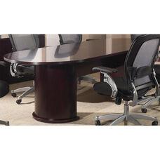 OSP Furniture Kenwood Hardwood Veneer Conference Table with Half Cylinder Bases