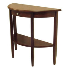 Concord Half Moon Console Table with Drawer