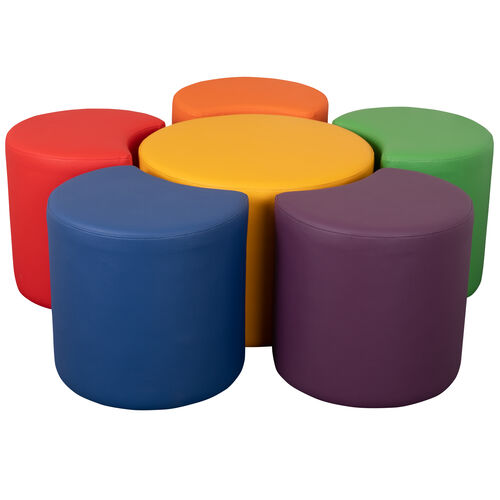 """Our Soft Seating Collaborative Flower Set for Classrooms and Common Spaces - Assorted Colors (18""""H) is on sale now."""