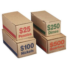 PM SecurIT $100 Coin Box (Nickels) - - WidthCardboard - Blue - Coin