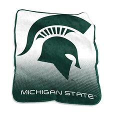 Michigan State University Team Logo Raschel Throw