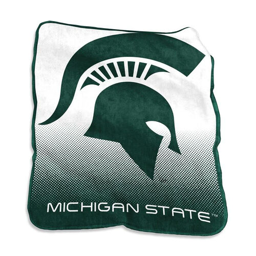 Our Michigan State University Team Logo Raschel Throw is on sale now.