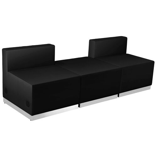 Our HERCULES Alon Series Black Leather Reception Configuration, 3 Pieces is on sale now.