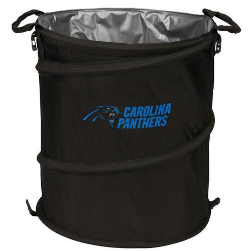 Carolina Panthers Team Logo Collapsible 3-in-1 Cooler Hamper Wastebasket