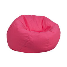 Small Solid Hot Pink Kids Bean Bag Chair