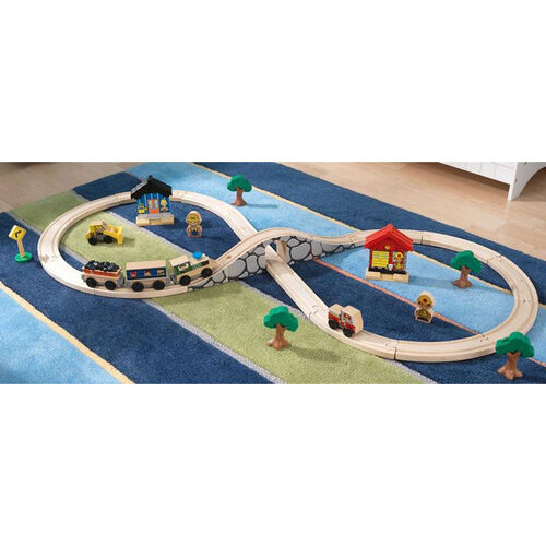 Kids Wooden Figure 8 Starter Train Track Play Set Includes 38 Pieces