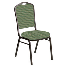 Crown Back Banquet Chair in Rapture Aloe Fabric - Gold Vein Frame