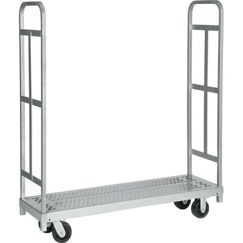 Our Narrow Tall End Steel Frame Truck with 2 Swivel Casters - 16