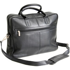 Executive Laptop Briefcase - Colombian Vaquetta Leather - Black