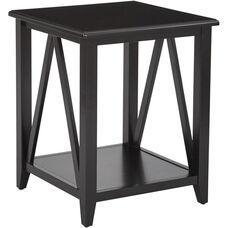 OSP Designs Santa Cruz End Table - Black
