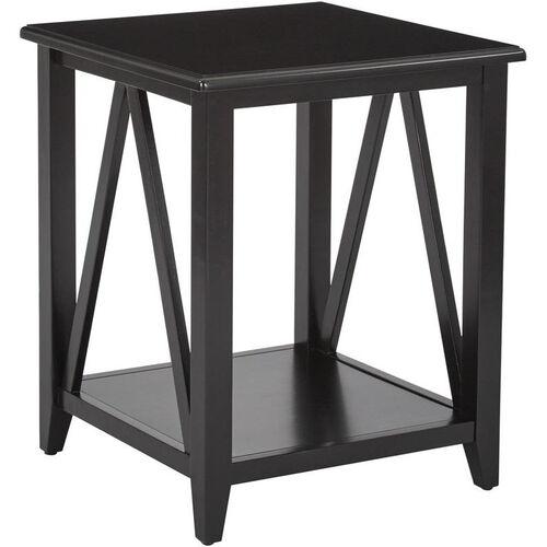 Our OSP Designs Santa Cruz End Table - Black is on sale now.
