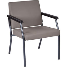 Work Smart Bariatric Big & Tall Guest Chair with 300 lb. Weight Capacity - Dillion Stratus Antimicrobial Vinyl