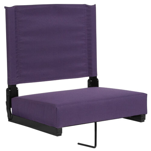 Our Grandstand Comfort Seats by Flash with Ultra-Padded Seat in Dark Purple is on sale now.