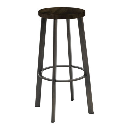 Metal Bar Stool Wood Seat Metro Br6100 Lft Bn Bizchaircom