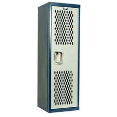 Home Team Locker Unassembled - Dark Blue Body & Light Gray Door - 15