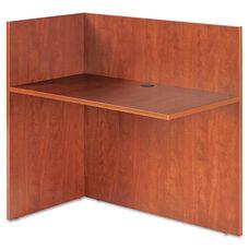Alera® Valencia Reversible Reception Return - 44w x 23 5/8d x 41 1/2h - Medium Cherry