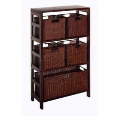 Leo 6-Pc Storage Shelf and Baskets