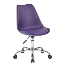 Ave Six Emerson Armless Task Chair with Chrome Base and Casters - Purple