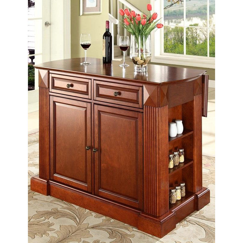 ... Our Drop Leaf Breakfast Bar Top Kitchen Island   Classic Cherry Finish  Is On Sale Now ...