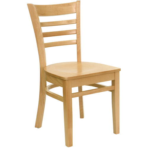 Our Natural Wood Finished Ladder Back Wooden Restaurant Chair is on sale now.