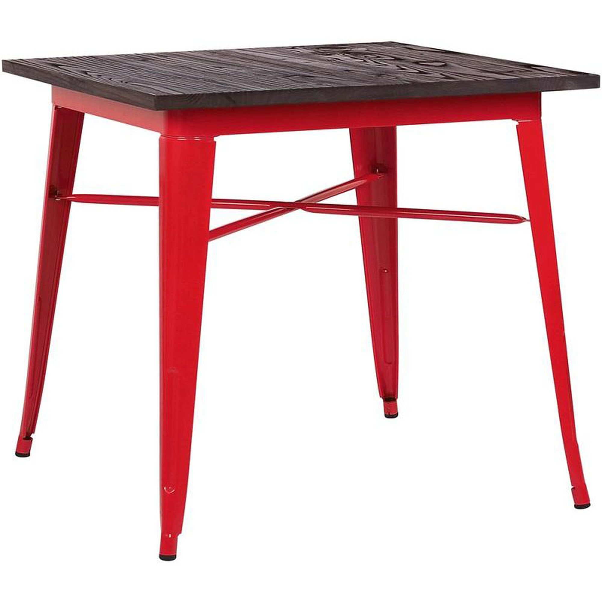 Dreux Red Steel Bar Table Ls 9120 Redw Bizchair Com