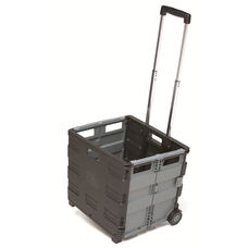 MemoryStor® Flat Folding Universal Rolling Cart with Telescoping Handle