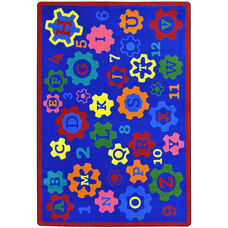 Kid Essentials Geared for Learning Nylon Rug with SoftFlex Backing - 129