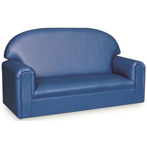 Our Just Like Home Toddler Size Overstuffed Vinyl Sofa - Blue - 34