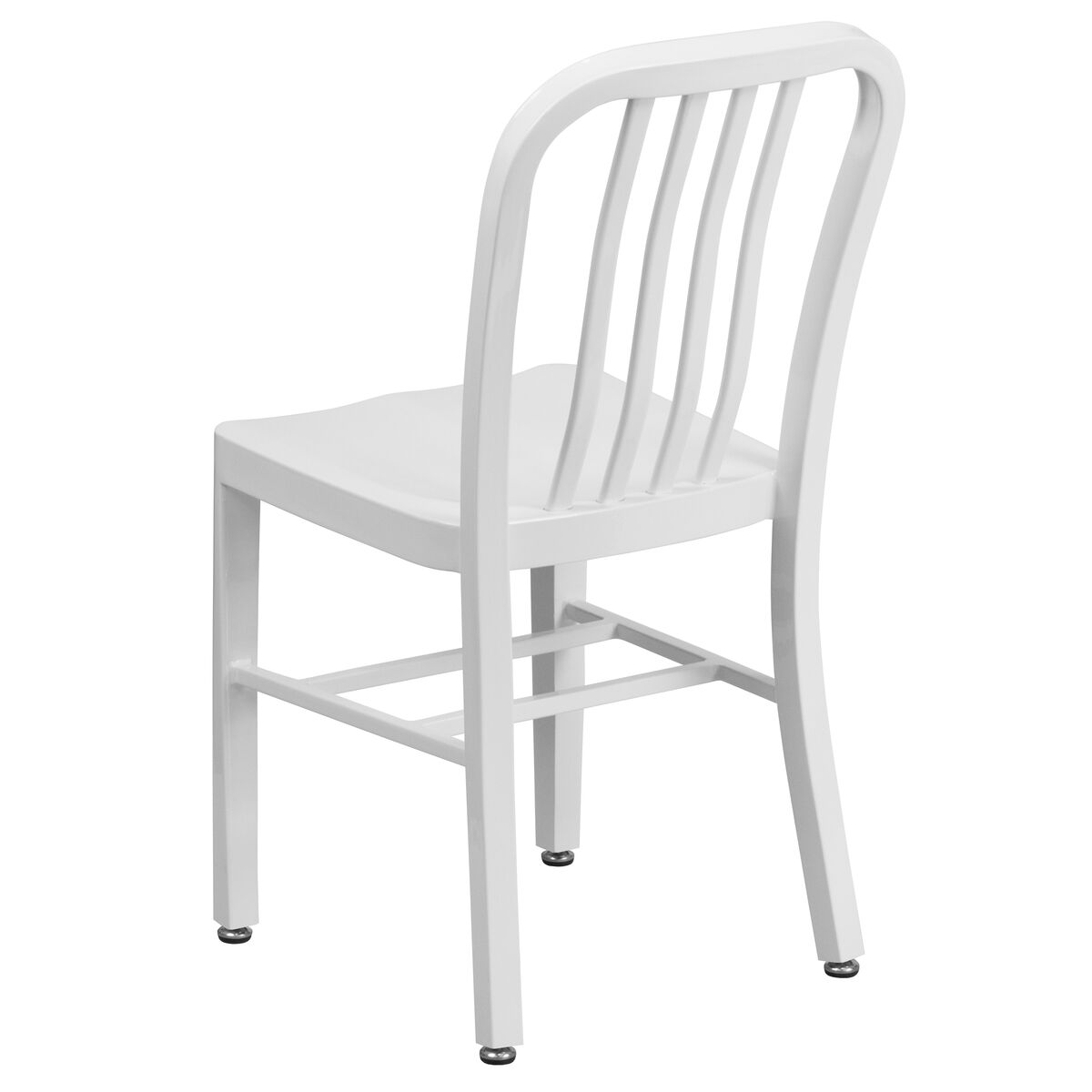 Our white metal indoor outdoor chair is on sale now
