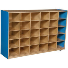 Wooden Storage Unit with 30 Storage Compartments - Blueberry - 58