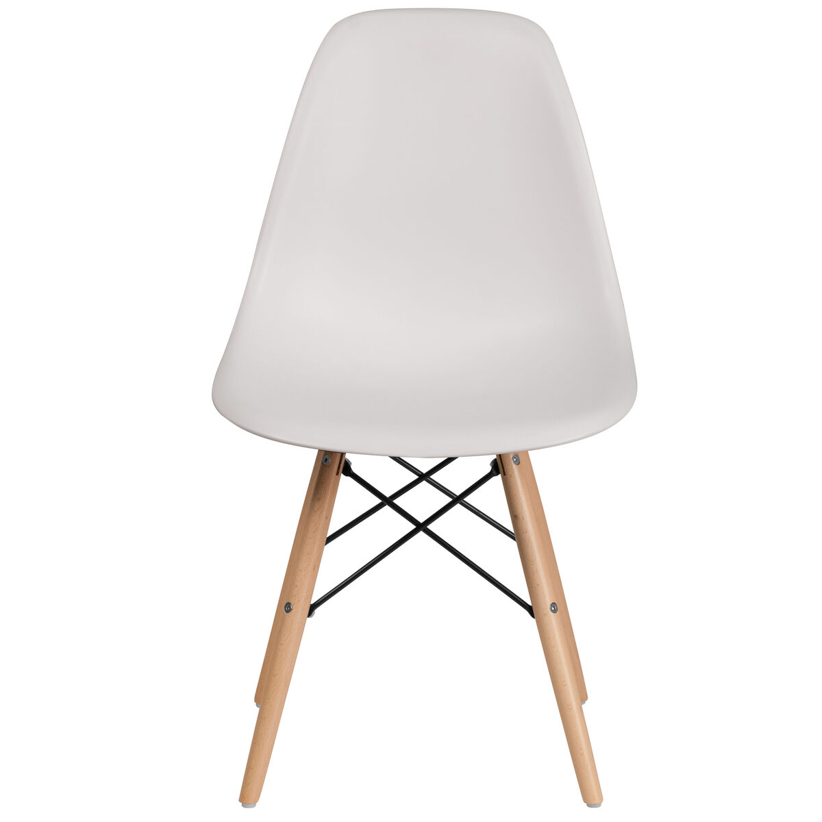 Miraculous Elon Series White Plastic Chair With Wooden Legs Ibusinesslaw Wood Chair Design Ideas Ibusinesslaworg