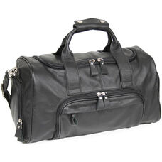 Travel Duffel Sports Bag - Florida Leather - Black