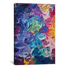 Rainbow Flow by Tanya Shatseva Gallery Wrapped Canvas Artwork