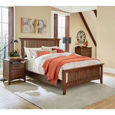 Inspired By Bassett Modern Mission King Bedroom Set with 2 Nightstands and 1 Chest