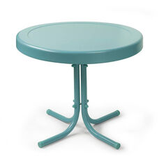 Retro Metal Side Table - Caribbean Blue