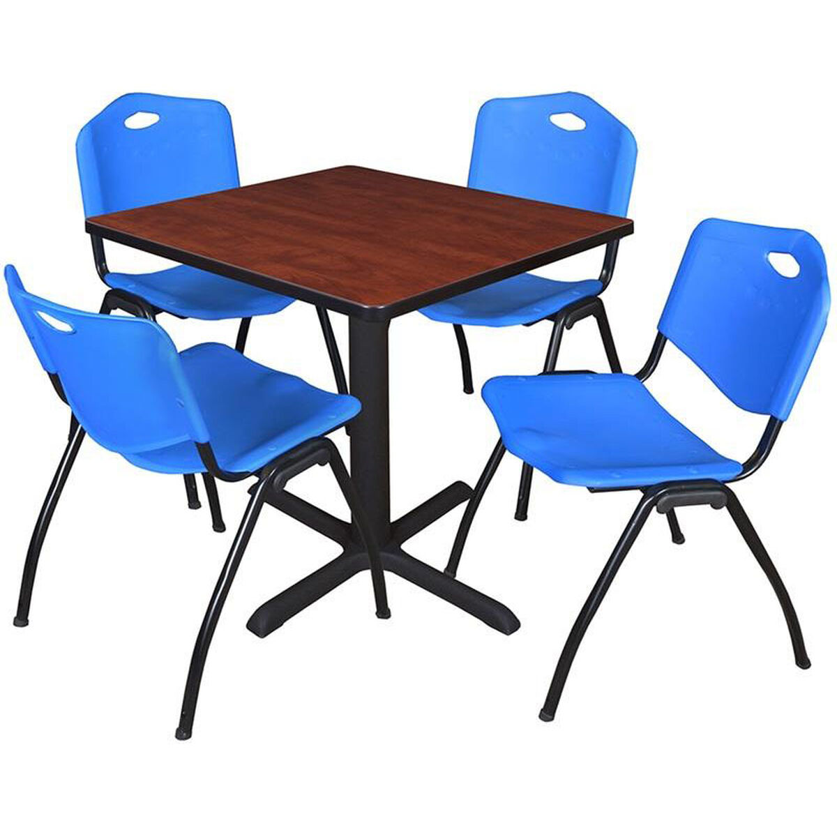 Square Table And Stack Chair Set TBCHBE Bizchaircom - Break room table and chair sets