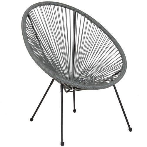 Our Valencia Oval Comfort Series Take Ten Grey Rattan Lounge Chair is on sale now.